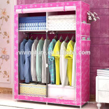 Metal Furniture Non woven shelf folding wardrobe